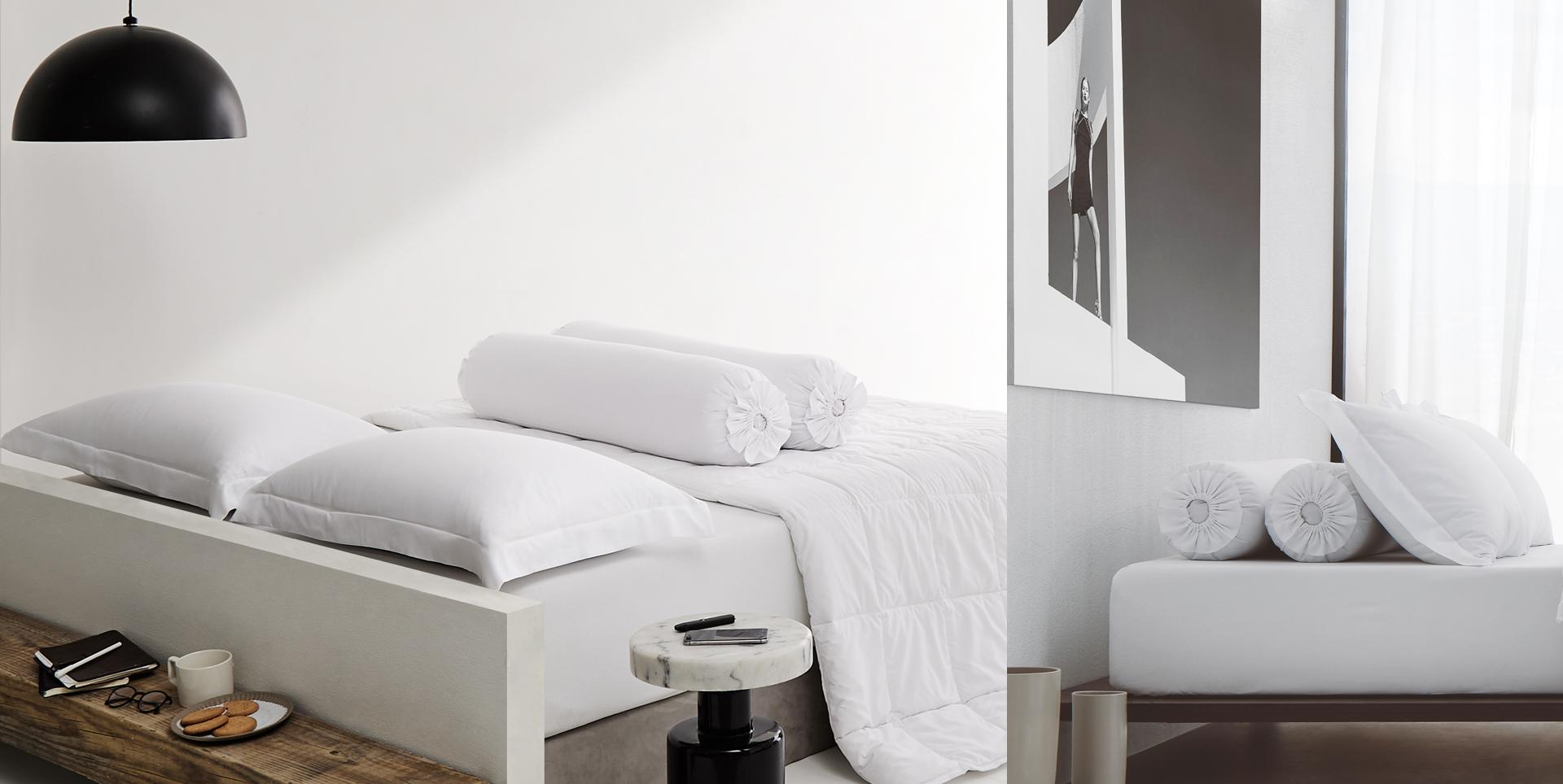 Lotusattitude - white ชุดผ้าปูที่นอน
