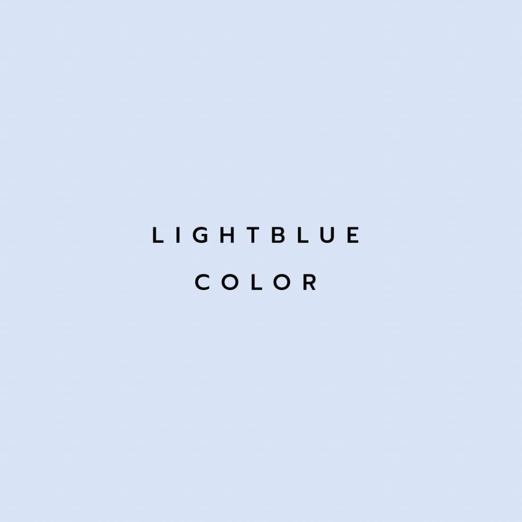 Lotus attitude - lightblue color
